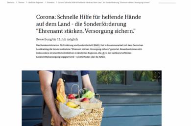 Screenshot www.bmel.de