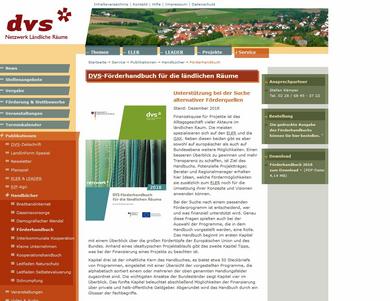 Screenshot www.netzwerk-laendlicher-raum.de