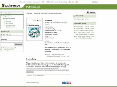 Screenshot sachsen.de