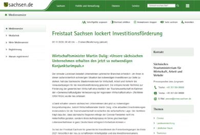 Foto: Screenshot medienservice.sachsen.de